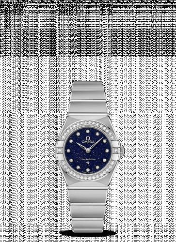 Omega 131.15.25.60.53.001 : Constellation Manhattan 25 Quartz Stainless Steel / Aventurine / Diamond