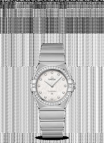 Omega 131.15.28.60.52.001 : Constellation Manhattan 28 Quartz Stainless Steel / Silver Silk-Diamond / Diamond