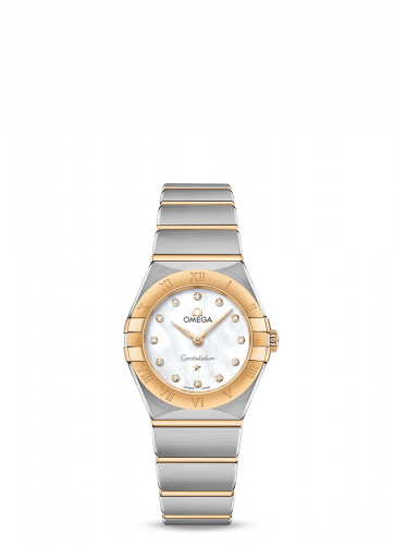 Omega 131.20.25.60.55.002 : Constellation Manhattan 25 Quartz Stainless Steel / Yellow Gold / MOP