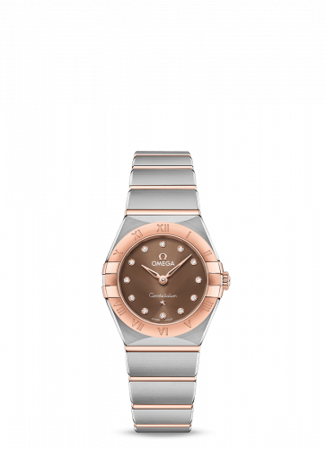 Omega 131.20.25.60.63.001 : Constellation Manhattan 25 Quartz Stainless Steel / Sedna Gold / Brown - Diamond