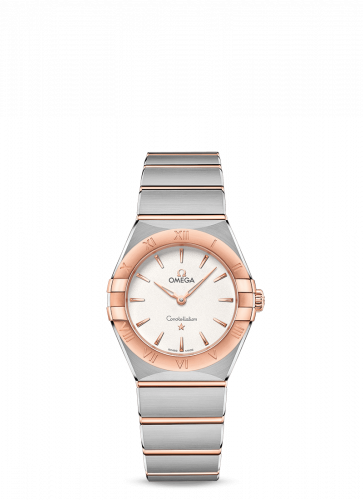 Omega 131.20.28.60.02.001 : Constellation Manhattan 28 Quartz Stainless Steel / Sedna Gold / Silver