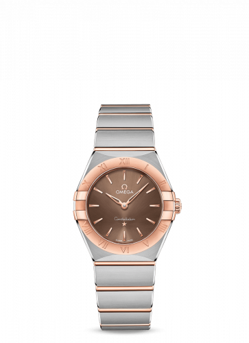 Omega 131.20.28.60.13.001 : Constellation Manhattan 28 Quartz Stainless Steel / Sedna Gold / Brown