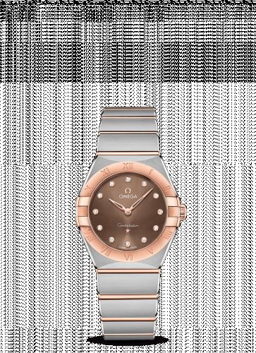 Omega 131.20.28.60.63.001 : Constellation Manhattan 28 Quartz Stainless Steel / Sedna Gold / Brown - Diamond