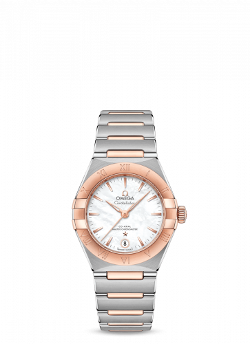 Omega 131.20.29.20.05.001 : Constellation Manhattan 29 Co-Axial Master Chronometer Stainless Steel / Sedna Gold / MOP