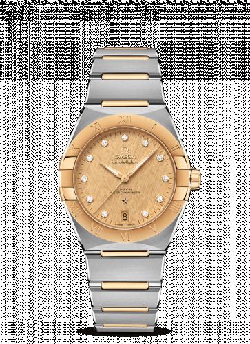 Omega 131.20.36.20.58.001 : Constellation Master Chronometer 36 Stainless Steel / Yellow Gold / Champagne - Diamond / Bracelet