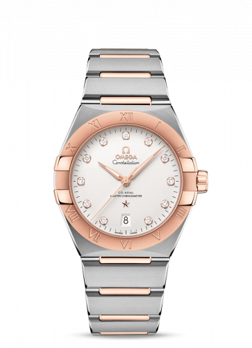 Omega 131.20.39.20.52.001 : Constellation Master Chronometer 39 Stainless Steel / Sedna / Silver-Diamond / Bracelet