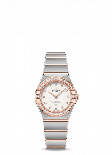 Omega 131.25.25.60.52.001 : Constellation Manhattan 25 Quartz Stainless Steel / Sedna Gold / Silver Diamond / Diamond