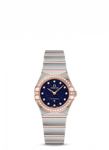 Omega 131.25.25.60.53.002 : Constellation Manhattan 25 Quartz Stainless Steel / Sedna Gold / Aventurine / Diamond