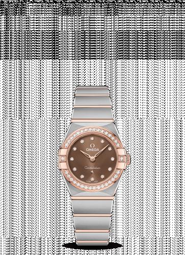 Omega 131.25.25.60.63.001 : Constellation Manhattan 25 Quartz Stainless Steel / Sedna Gold / Brown - Diamond / Diamond