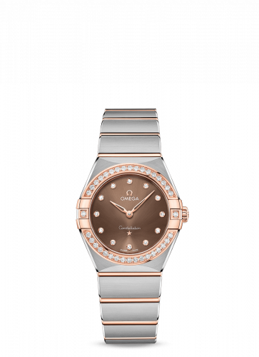 Omega 131.25.28.60.63.001 : Constellation Manhattan 28 Quartz Stainless Steel / Sedna Gold / Brown-Diamond / Diamond