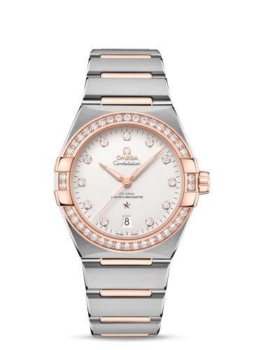 Omega 131.25.39.20.52.001 : Constellation Master Chronometer 39 Stainless Steel / Sedna - Diamond / Silver / Bracelet