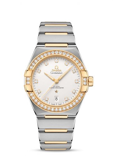 Omega 131.25.39.20.52.002 : Constellation Master Chronometer 39 Stainless Steel / Yellow Gold - Diamond / Silver / Bracelet