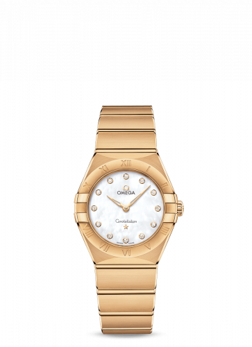 Omega 131.50.28.60.55.002 : Constellation Manhattan 28 Quartz Yellow Gold / MOP