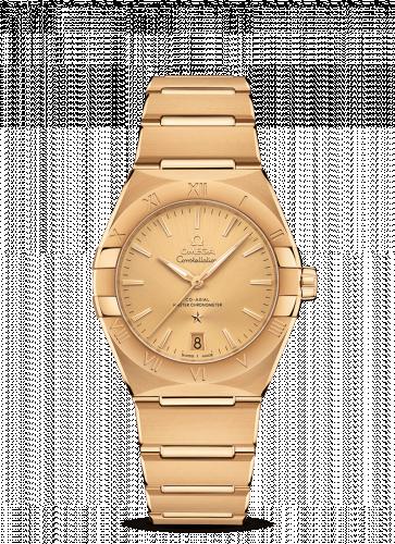 Omega 131.50.36.20.08.001 : Constellation Master Chronometer 36 Yellow Gold / Champagne / Bracelet