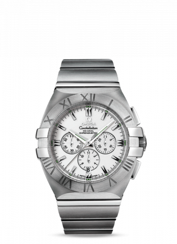 Omega 1514.20.00 : Constellation Co-Axial 41 Chronograph Double Eagle Stainless Steel / White / Bracelet