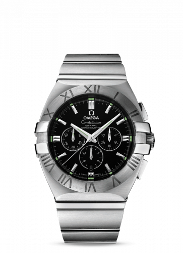 Omega 1514.51.00 : Constellation Co-Axial 41 Chronograph Double Eagle Stainless Steel / Black / Bracelet