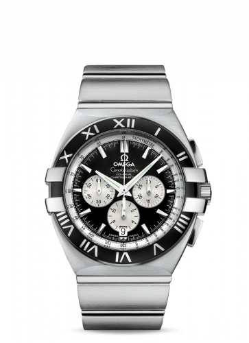 Omega 1519.51.00 : Constellation Co-Axial 41 Chronograph Double Eagle Stainless Steel / Black / Bracelet