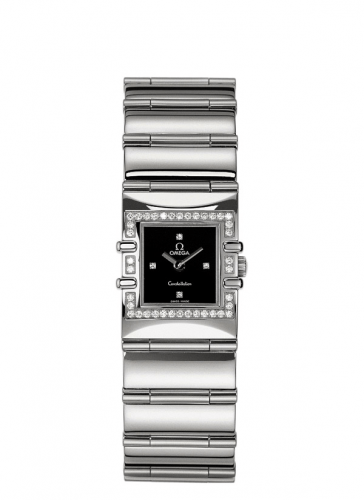 Omega 1528.46.00 : Constellation Quadra Quartz 19.3 Stainless Steel / Diamond / Black