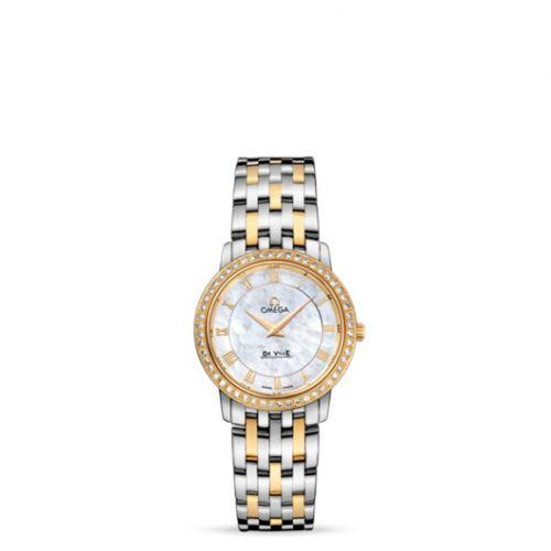 Omega 413.25.27.60.05.001 : De Ville Prestige Quartz 27 Stainless Steel / Yellow Gold / Diamond / Bracelet