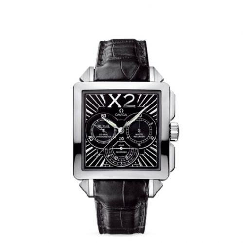 Omega 423.13.37.50.01.001 : De Ville X2 Co-Axial 37 Chronograph Stainless Steel / Black