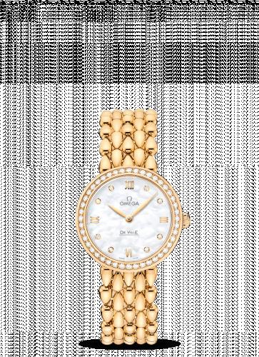 Omega 424.55.27.60.55.006 : De Ville Prestige Dewdrop Quartz 27.4 Yellow Gold / Diamond / Bracelet