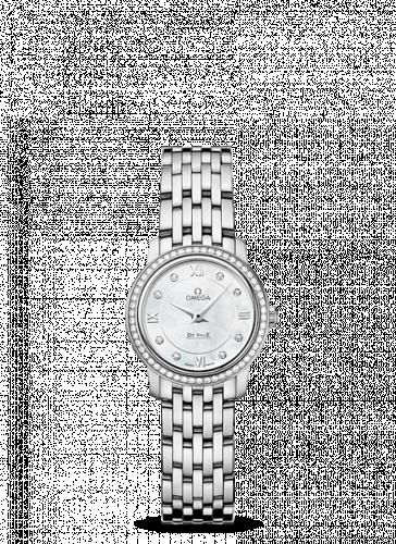 Omega 424.15.24.60.55.001 : De Ville Prestige Quartz 24.4 Stainless Steel / Diamond / Bracelet