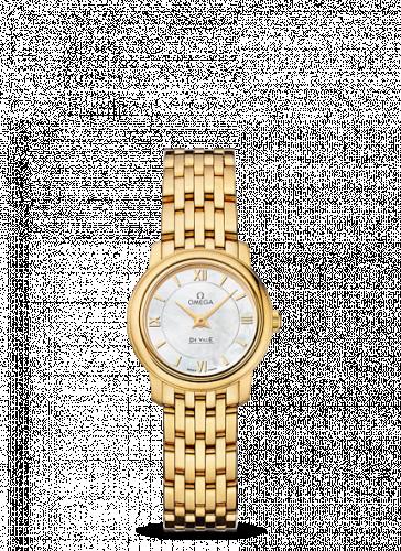 Omega 424.50.24.60.05.001 : De Ville Prestige Quartz 24.4 Yellow Gold / MOP / Bracelet