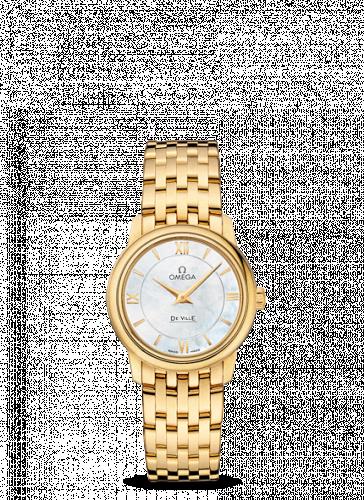 Omega 424.50.27.60.05.001 : De Ville Prestige Quartz 27.4 Yellow Gold / MOP / Bracelet