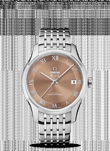 433.10.41.21.10.001 : Omega De Ville Hour Vision Master Chronometer Stainless Steel / Brown / Bracelet