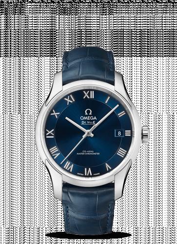 433.13.41.21.03.001 : Omega De Ville Hour Vision Master Chronometer Stainless Steel / Blue