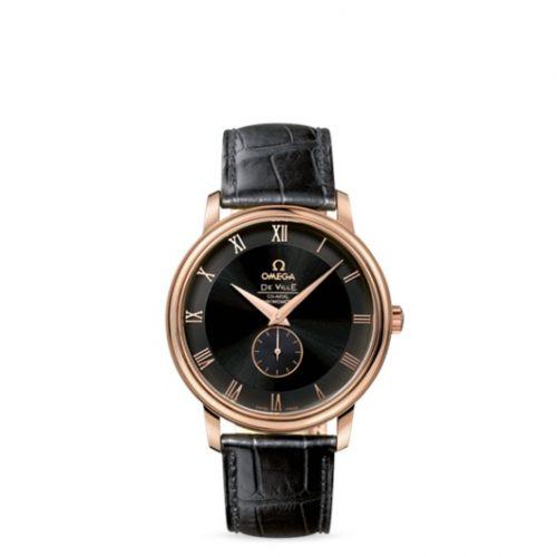 4614.50.01 : Omega De Ville Prestige Co-Axial 39 Small Seconds Red Gold / Black
