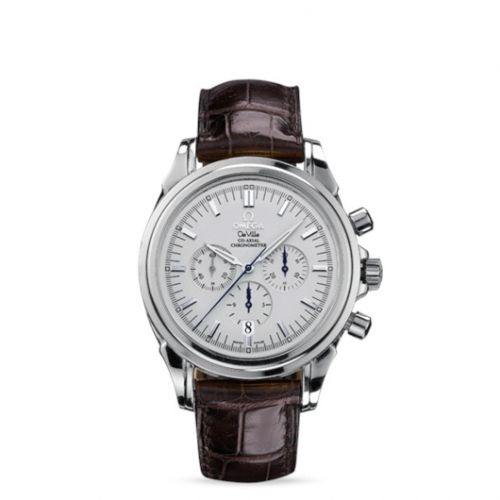 Omega 4841.31.32 : De Ville Co-Axial 41 Chronograph Stainless Steel / Silver