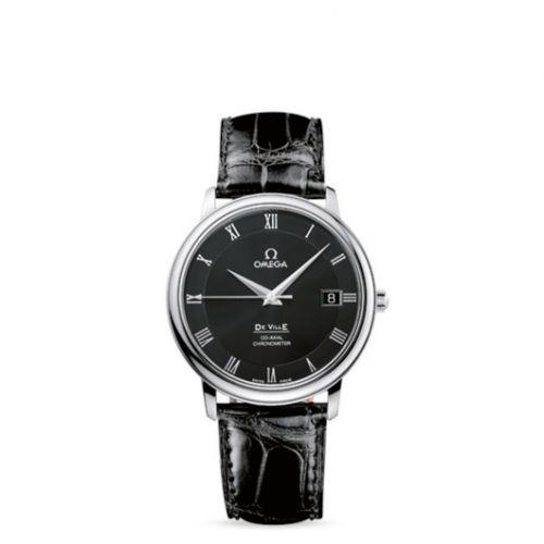 Omega 4875.50.01 : De Ville Prestige Co-Axial 36.5 Stainless Steel / Black