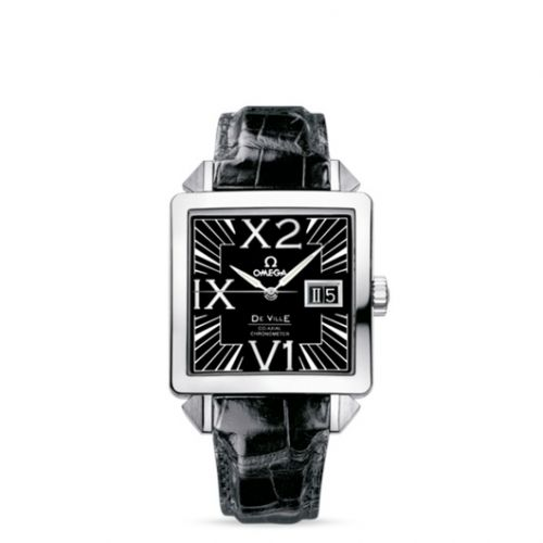 Omega 7813.50.31 : De Ville X2 Co-Axial 35 Big Date Co-Axial Stainless Steel / Black