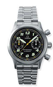 5240.50.00 : Omega Dynamic III Chronograph Stainless Steel / Black / Bracelet