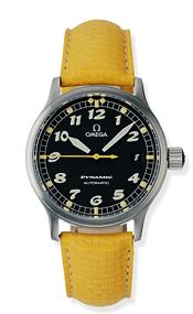 Omega 5250.50.40 : Dynamic III Date Stainless Steel / Black / Yellow Coramide