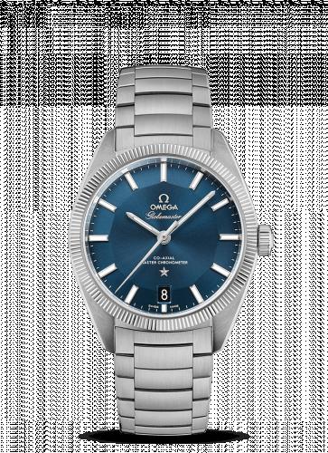 Omega 130.30.39.21.03.001 : Globemaster Stainless Steel / Blue / Bracelet