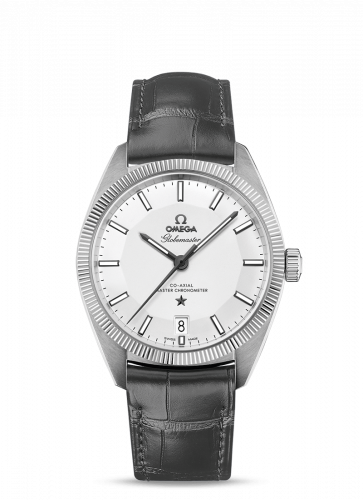 130.33.39.21.02.001 : Omega Globemaster Stainless Steel / Silver / Leather