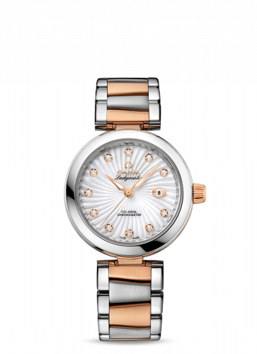 Omega 425.20.34.20.55.001 : LadyMatic Co-Axial 34 Stainless Steel / Red Gold / MOP / Bracelet