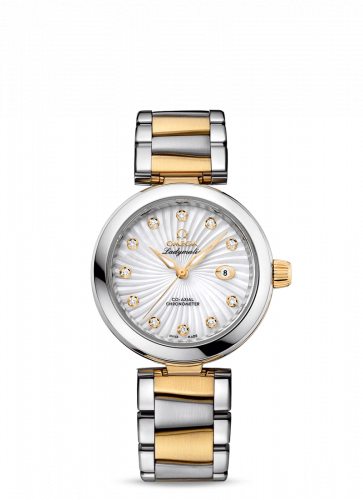 Omega 425.20.34.20.55.002 : LadyMatic Co-Axial 34 Stainless Steel / Yellow Gold / MOP / Bracelet