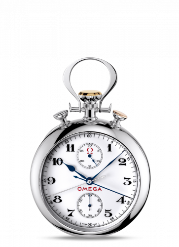 Omega 5110.20.00 : Olympic Pocket Watch 1932 White Gold