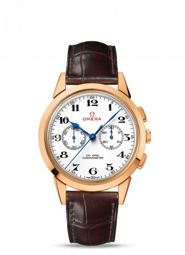 522.53.39.50.04.001 : Omega Museum Collection N° 8 Olympic Official Timekeeper Co-Axial Chronograph Pink Gold