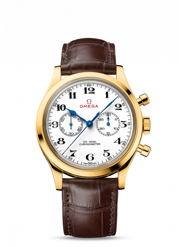 Omega 522.53.39.50.04.002 : Museum Collection N° 10 Olympic Official Timekeeper Co-Axial Chronograph Yellow Gold