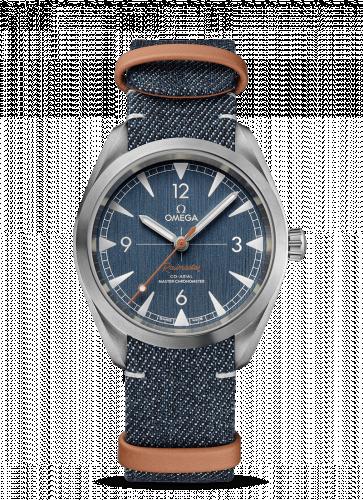 Omega 220.12.40.20.03.001 : Railmaster Omega Co-Axial Master Chronometer 40 Stainless Steel / Blue / NATO