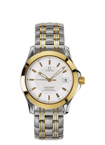 Omega 2301.21.00 : Seamaster 120M Automatic 36.25 Stainless Steel / Yellow Gold / White