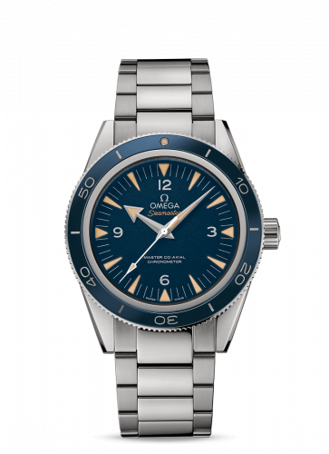 Omega 233.90.41.21.03.001 : Seamaster 300 Master Co-Axial Titanium / Blue / Bracelet