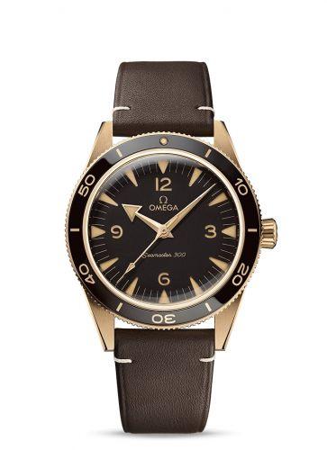 Omega 234.92.41.21.10.001 : Seamaster 300 Master Chronometer  Bronze Gold / Brown / Strap