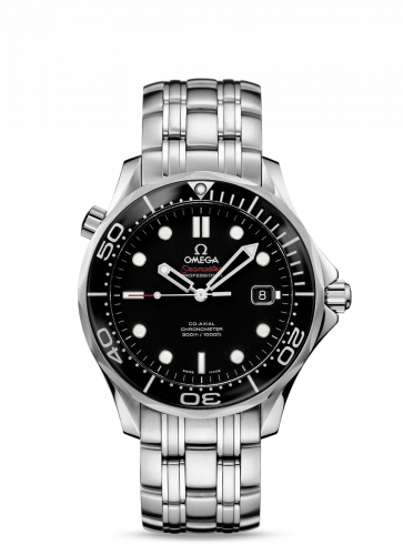 Omega 212.30.41.20.01.003 : Seamaster Diver 300M Co-Axial 41 Stainless Steel / Black / Bracelet / Ceramic