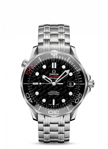 212.30.41.20.01.005 : Omega Seamaster Diver 300M Co-Axial 41 Stainless Steel / Black / Bracelet James Bond 50th Anniversary