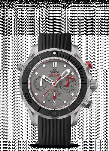 Omega 212.92.44.50.99.001 : Seamaster Diver 300M Co-Axial 44 Chronograph Titanium / Grey / Rubber / ETNZ